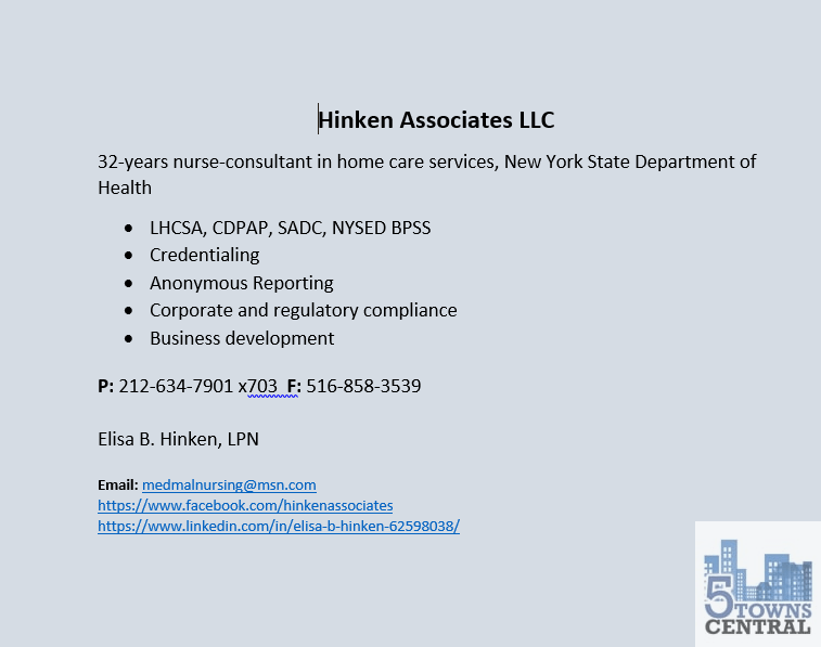 Hinken Associates LLC, consulting and compliance in home care